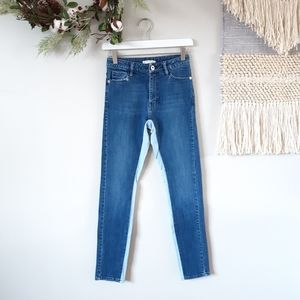Each x Other | High Rise Two Tone Denim Jeans